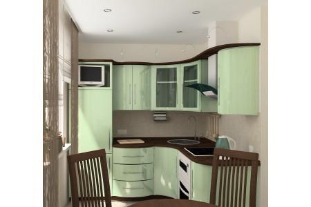Кухонный гарнитур для маленькой кухни - 6 метров