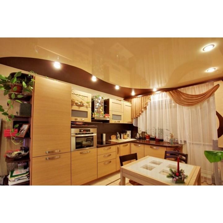 Натяжной потолок, Кухня 8 кв