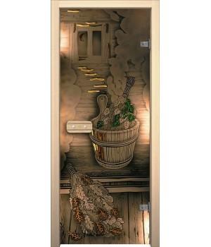 Межкомнатная дверь Парилка (189*69 Лев.)