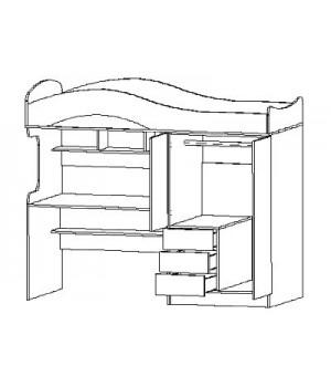 Кровать-чердак Лео 2 лео-1