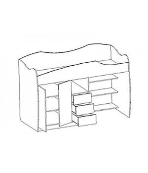 Кровать-чердак Ника-3 Н3-2