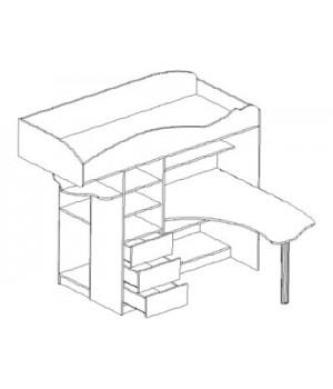 Кровать-чердак Фрегат Фр-2