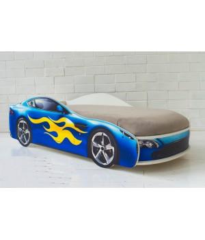 Кровать Бондмобиль синий