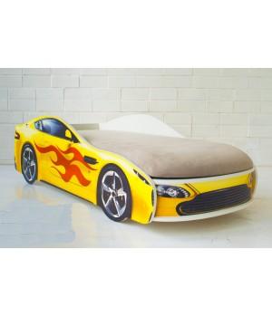 Кровать Бондмобиль желтый