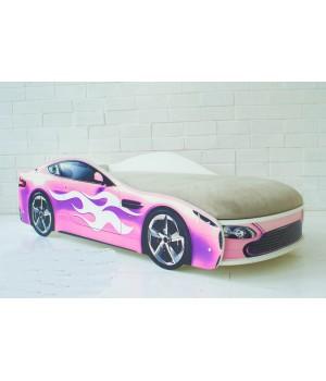 Кровать Бондмобиль розовый