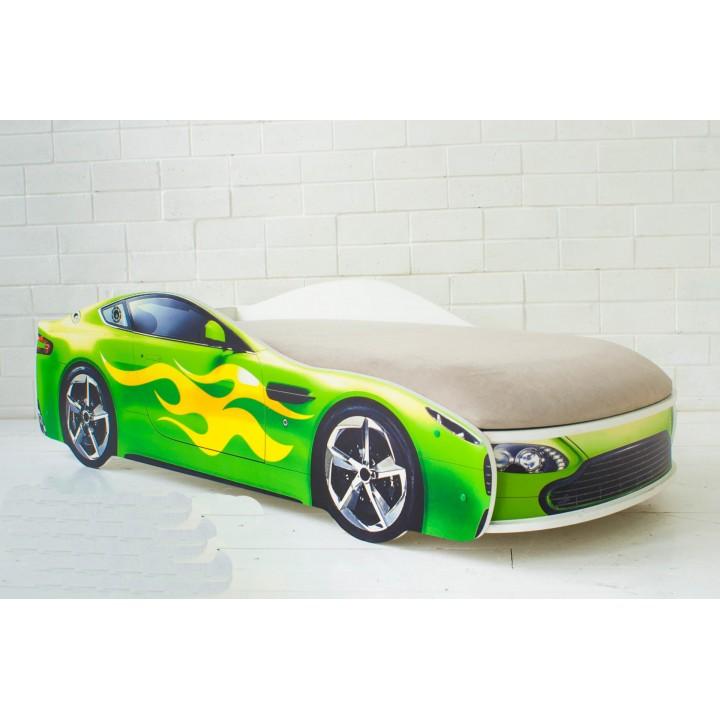Кровать Бондмобиль зеленый
