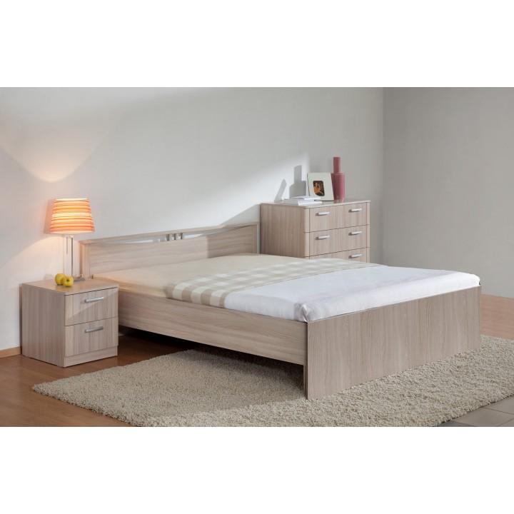 Кровать Мелисса 1600 без ящиков (Шимо свет)