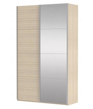 Шкаф-купе 2-х дверный с зеркалом Прайм 1400