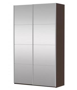 Шкаф-купе 2-х дверный с зеркалами Прайм 1400