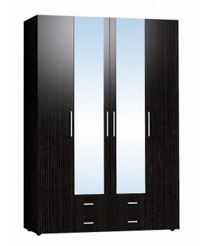 Шкаф 4-х дверный с зеркалом Монако 555