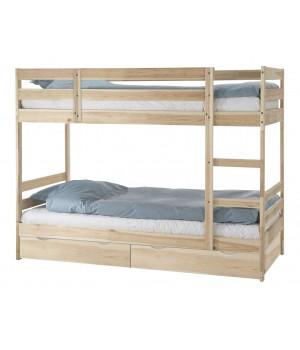 Кровать двухъярусная Пирус с ящиками (для покраски)
