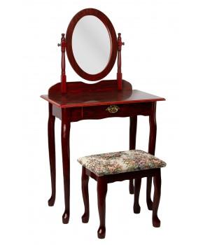 Стол туалетный с зеркалом и пуфом 47-664