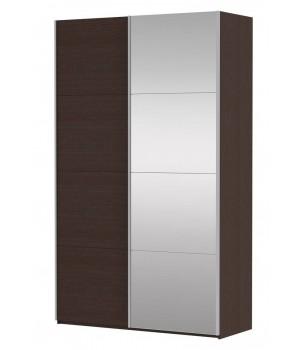 Шкаф-купе 2-х дверный с зеркалом Прайм 1600