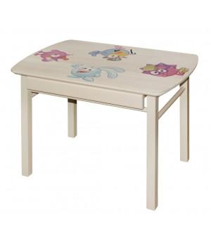 Детский стол прямоугольный с ящиком