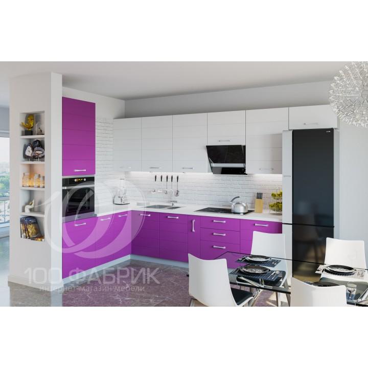 Кухня Трапеза Виолетта глянец