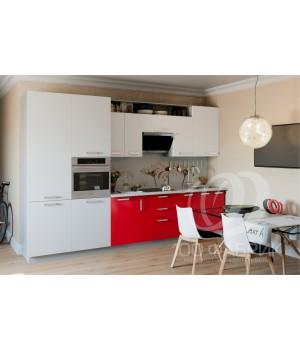 Кухня Трапеза Белый/Бордовый