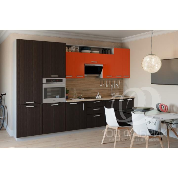 Кухня Трапеза Оранжевый/Венге