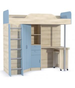 Кровать-чердак со столом 427