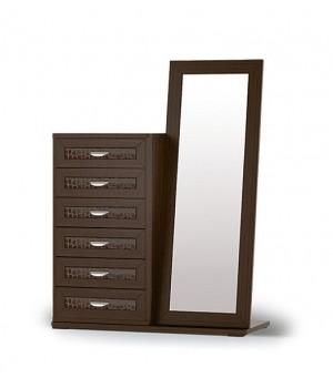 Комод высокий с зеркалом СП.060.406+080.407+160.401
