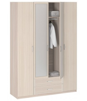 Шкаф 4-х дверный с зеркалом 8.041