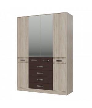 Шкаф 4-х дверный с ящиками Румба 4-4817