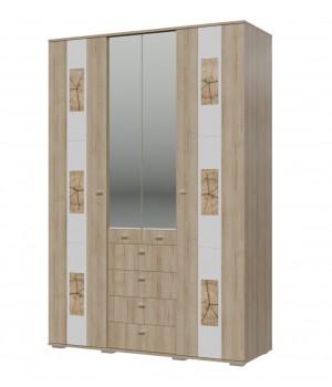 Шкаф 4-х дверный Бавария 4-4828