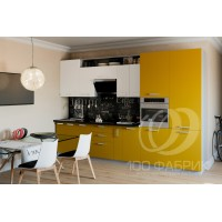 Кухня Трапеза Белый/Желтый