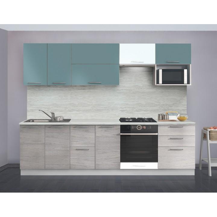 Кухня Трапеза Престиж со шкафом под микров. печь 2200 (II кат)