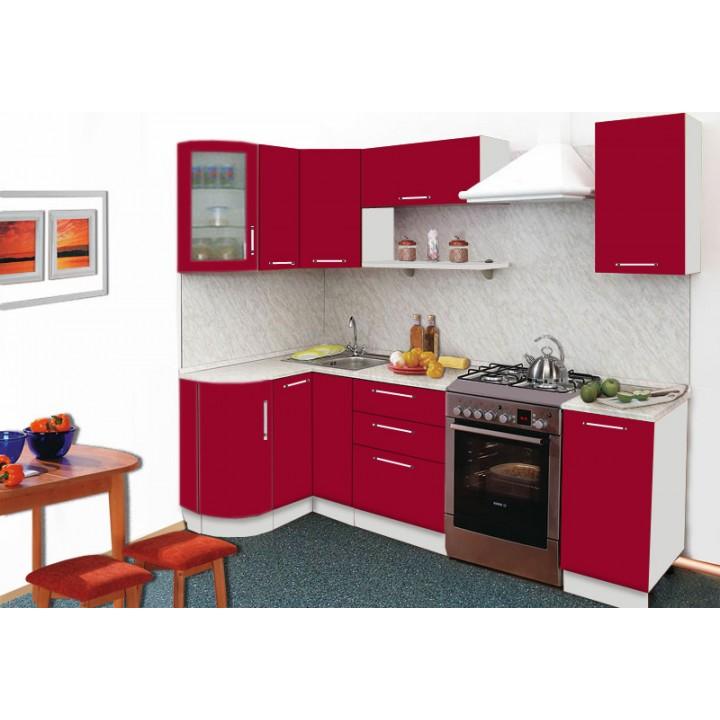 Кухня Трапеза Престиж с гнутыми фасадами 1230x1785
