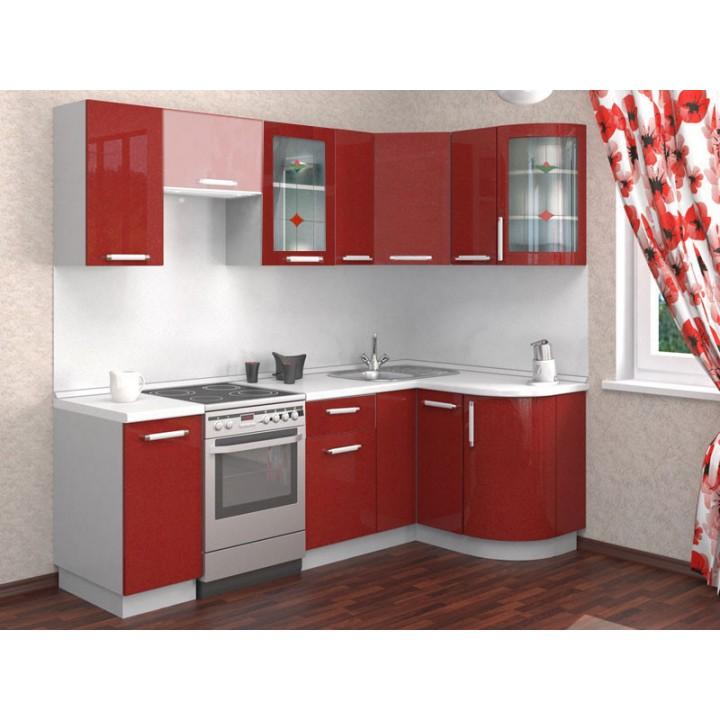 Кухня Трапеза Классика 1230x1785 с гнутыми фасадами (h=900)