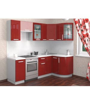 Кухня Трапеза Классика 1230x1785 с гнутыми фасадами (h=700)