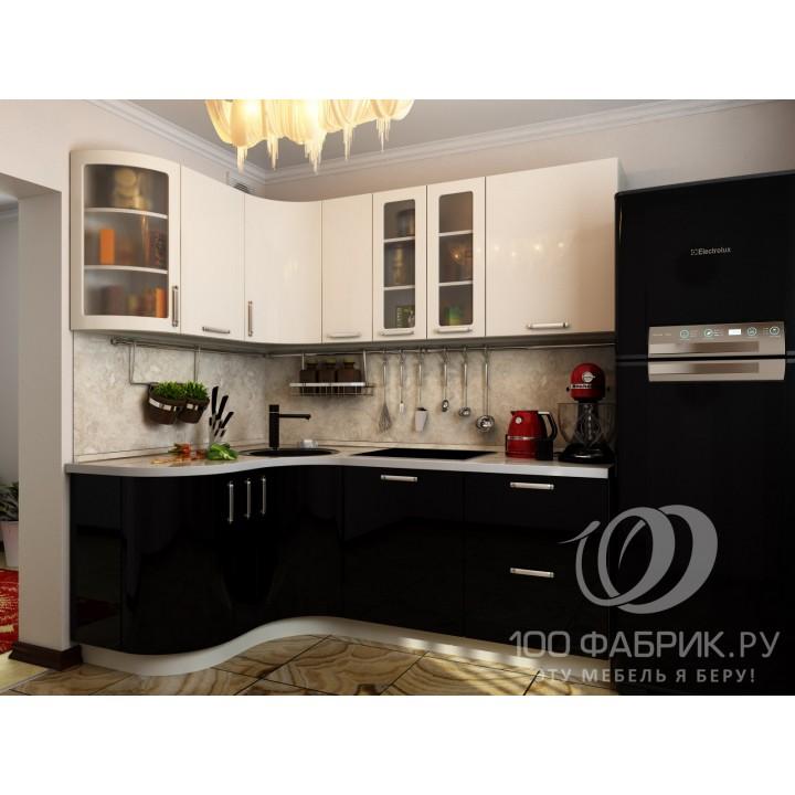 Кухня Трапеза Классика Бело-черная