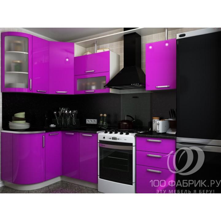 Кухня Трапеза Классика Фиолетовая угловая